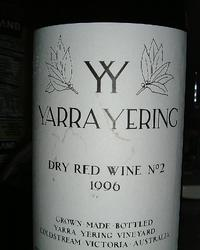 YarraYering Dry Red No.2, 1996